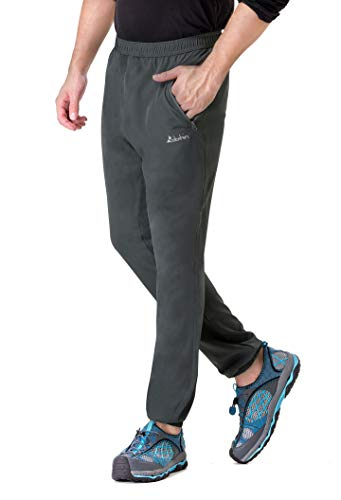 Clothin Men's Elastic-Waist Drawstring Pants for Sport Exercise Travel,Quick-Dry,Stretchy,Grey,XXL(41.4