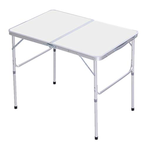 SoSo-BanTian1989 Folding Camping Table, Aluminum Camping Furniture Adjustable Picnic Table for Outdoor Party Dining Beach Patio Yard BBQ
