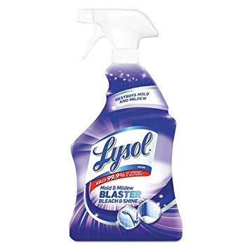 Lysol Mildew Remover Spray with Bleach, 32 Ounce (Pack of 12) by Reckitt Benckiser