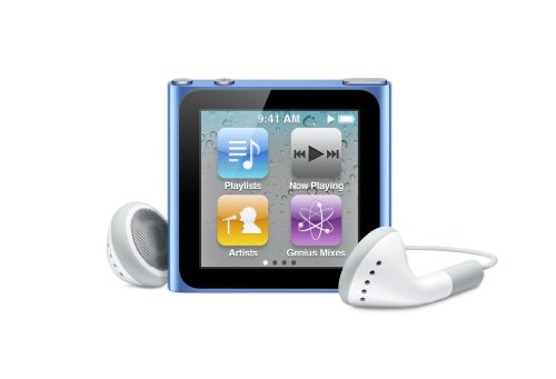 Apple Ipod Nano 8 Gb Blue  6Th Generation   Discontinued By Manufacturer