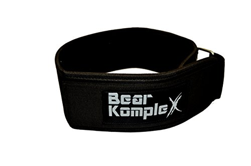 Bear KompleX 4'' Straight Weightlifting Belt for Powerlifting, Squats, Weight Training and More. Low Profile with Super Firm Back for Maximum Stability & Exceptional Comfort. Straight Black XS by Bear KompleX (Image #7)