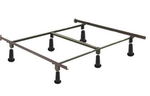 SKB family Queen Metal Bed Frame with Headboard Brackets and