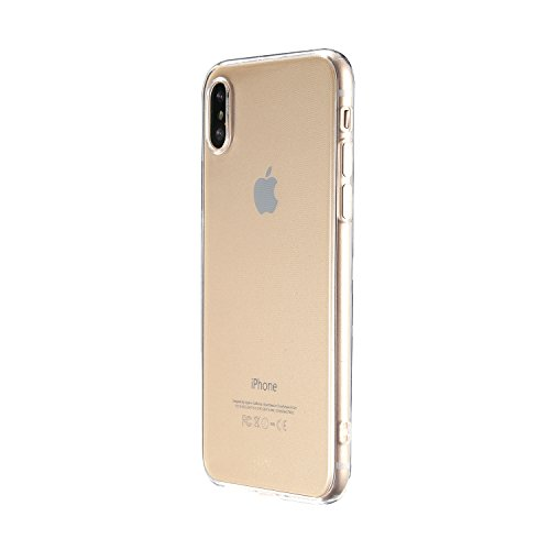 B&L iPhone X 5,8 Zoll Schutz-Hülle Silikon TPU transparent ultra-slim Case Cover ultra-thin durchsichtig extra Kameraschutz Linsenschutz 0,3mm