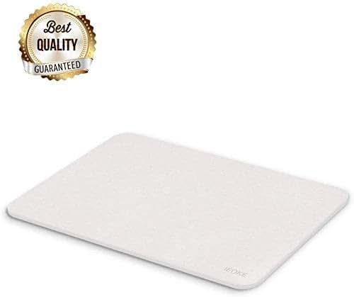 IEOKE Bath Tub Mat, Diatomaceous Earth Mat, Thick Modern Bathroom Carpet Mat, Non Slip Absorbent Fast Drying for Bath Room(23.5×15-Inch)