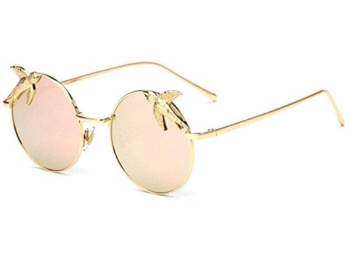 lentes sol para d b sol montura RDJM Gafas metálica con redondos mujer de Gafas de OF1FwCx