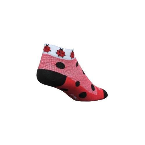 Classic Cuff Socks - SockGuy, Classic Lady Bug Womens Socks, cuff height 1