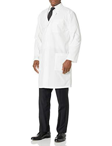 WWOO Hombre Bata de Laboratorio Blanco Bata de M/édico Uniforme Sanitario Ropa de Trabajo Actualizaci/ón de la Tela Delgado XXXL