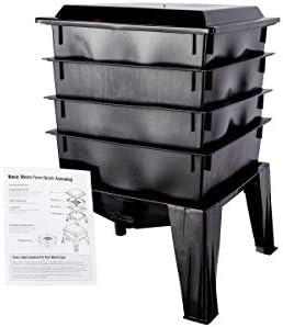 VIVOSUN Tumbling Composter Dual Rotating Batch Compost Bin 43 Gallon Black
