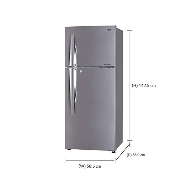 LG 260 L 2 Star Inverter Frost-Free Double-Door Refrigerator (GL-C292RPZY, Shiny Steel) 2021 August Important note : This product is 3-star rated as per 2019 BEE rating and 2-star rated as per 2020 BEE rating Energy Rating: 2 Star   Auto defrost to stop ice-build up and uniform cooling anytime Warranty: 1 year on product, 10 years on compressor