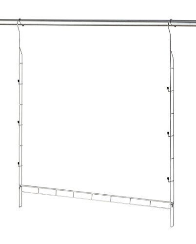 Hanging Rod Clothes (Organize It All Durable Chrome Closet Doubler (1346W))