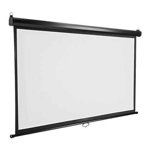 Excelvan Projector Screen 7 Pieces Velvet Fixed Frame Active Shutter 3D 4K HD Ultra Ready 1.2 Gain for Home Theater Home Cinema (120 inch Manual) by Excelvan