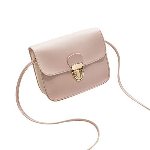 Black Shoulder Bag Crossbody Cover Lock Pink Phone Bag Women Kanpola Bag Solid Color Fashion nf47zwqYR