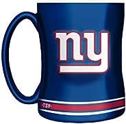 The Sports Vault NFL New York Giants Sculpted Mug, 14-Ounce Team Color