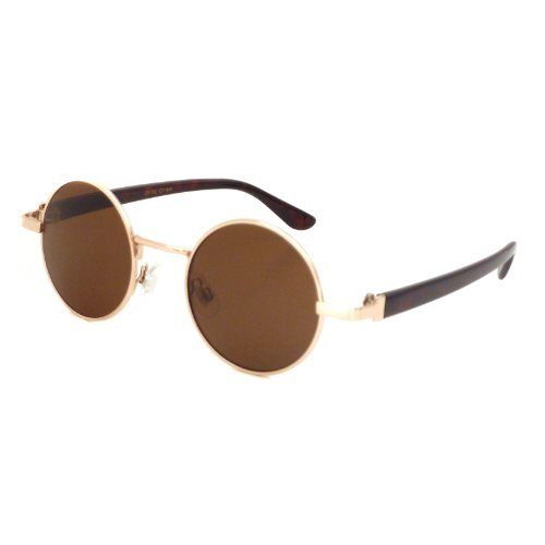 JOHN LENNON 1960 Style Vintage Small Round Metal Frame Sunglasses - Eye Color Lennon John