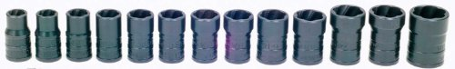 Williams TSCS3813 13-Piece Turbo Socket Salvage Socket Set (Turbosocket Set)