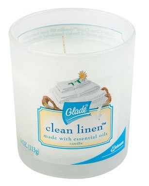 Glade Candle, Clean Linen, 4-Ounce Jars (Pack of 12)