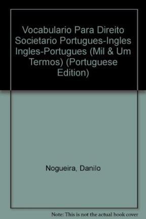 Vocabulario Para Direito Societario Portugues-Ingles Ingles-Portugues