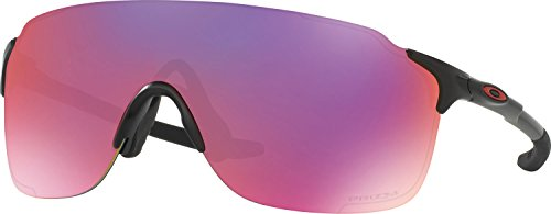 Oakley Men's Evzero Stride Non-Polarized Iridium Rectangular Sunglasses, Matte Black, 38 - Prizm Road Oakley