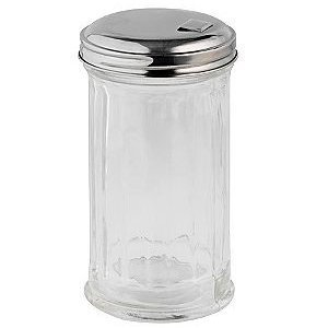 Adcraft PSJ-12SF Sugar Pourer / Shaker, Plastic Base, Side-Flap Top, Case of 3 Dozen