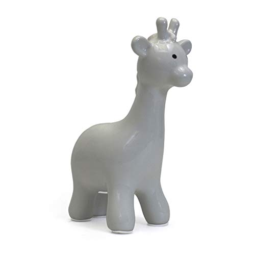 Child to Cherish Ceramic Giraffe Piggy Bank, Gray