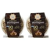 Krunchy Melts Chocolate Meringue Cookies 4 oz Tub (Pack of 2)