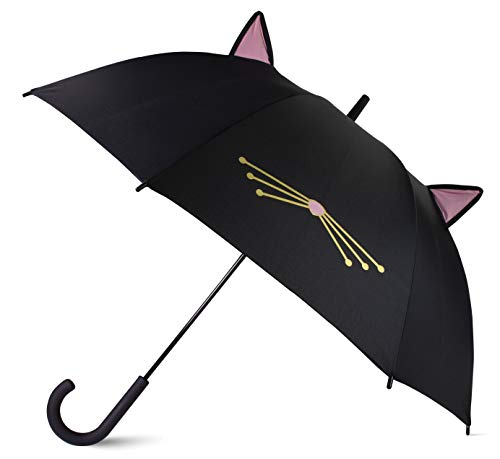 Kate Spade New York Umbrella, Black Cat (Kate Spade Black Cat)
