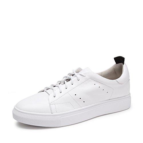 Zapatos ocasionales de las mujeres/Zapatillas de suela gruesa/Fondo plano zapatos/Versión coreana de los zapatos de la Junta de estudiantes A