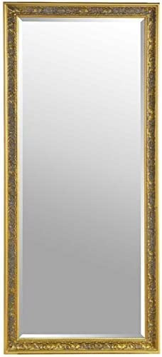 Large Shabby Chic Ornate Full Length Gold Wall Mirror 5ft4 X 2ft5 Amazon Co Uk Kitchen Home