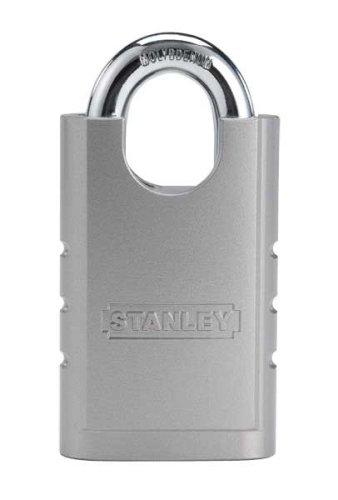 Stanley Hardware S828-152 CD8820 Shrouded Hardened Steel Padlock in Silver, 50mm Width by STANLEY