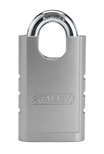Stanley Hardware S828-152 CD8820 Shrouded Hardened Steel Padlock in Silver, 50mm Width ()