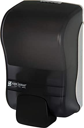 San Jamar S900TBK S900TBL Rely Manual Liquid and Lotion Soap Dispenser, 875 mL, Black