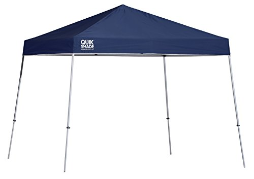 Quik Shade 10' x 10' Weekender Elite Slant Leg Outdoor Tent Instant Canopy with 81 Square Feet of Shade for 6-8 People ()