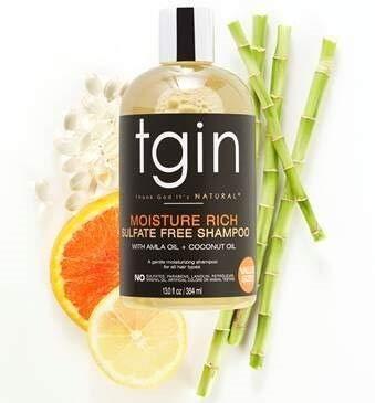 tgin Moisture Rich Sulfate Free Shampoo For Natural Hair - Dry Hair - Curly Hair, 13oz