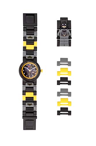 ClicTime Boys' LEGO Batman Analog Quartz Watch with Plastic Strap, Black, 20 (Model: 8021568)