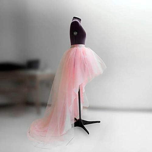 YKDDCC Falda Corta de Gama Alta Falda de Tul bajo de Color Rosa ...