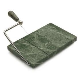 - RSVP Polished 8 x 5 Green Marble Board Cheese Slicer