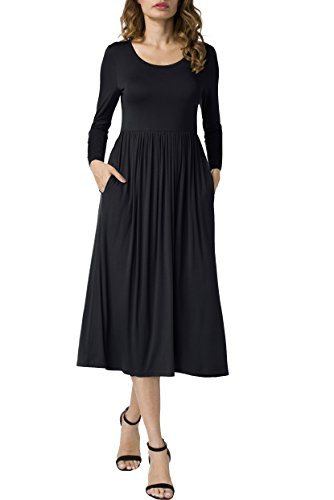 long black a line dress - 2