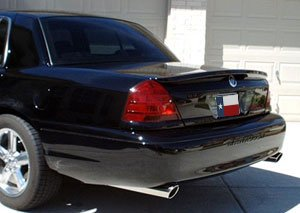 707 Motoring Fits Ford Crown Vic 1998-2008 Rear Lip Style Trunk Spoiler - Spoiler Style Rear Lip
