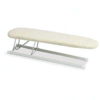 Household Essentials 120001 Pocket-sized Tabletop Sleeve Ironing Board - Steel Top - Beige / Off-White