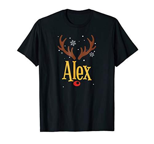 Alex Christmas T-Shirt Matching Family Christmas Reindeer