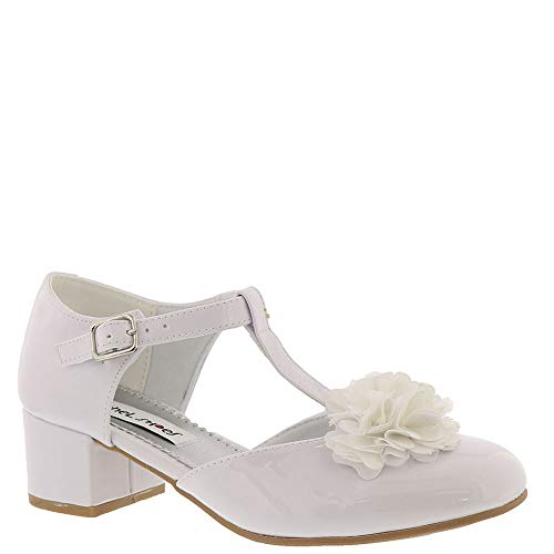 Rachel Shoes Girls' Amanda Mary Jane White Smooth 12 M US Little Kid ()