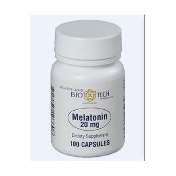 Melatonin 20 mg - 100 Capsules by Bio-Tech Pharmacal