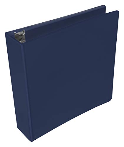 School Smart Polypropylene Round Ring View Binder, 2 Inches, Blue ()
