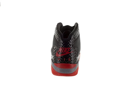 Nike Jordan Mens Air Jordan Spike Quaranta Pe Nero / Rosso Fuoco / Cemento Grigio Scarpa Da Basket 12 Uomini Noi
