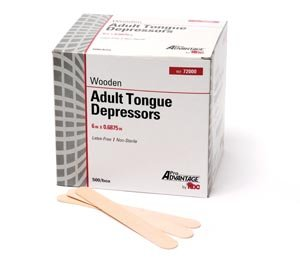 Pro Advantage 76900 Tongue Depressor, Adult 6'' x 11/16'', Sterile (Pack of 1000)