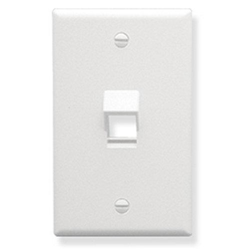 - Faceplate- Angled- 1-Gang- 1-Port- White