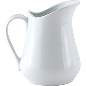 HIC Harold Import Co. NT306-HIC White, 8oz Classic Porcelain Pitcher And Creamer Home Decor Products