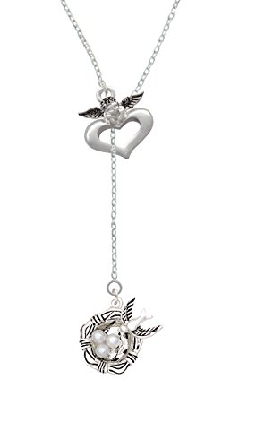 Price comparison product image Birds Nest with Eggs - Guardian Angel Lariat Necklace