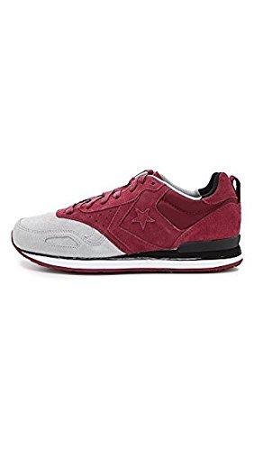 Converse Herren Man Sneaker Gr. 44.5 (US10.5) Wildleder Leder Chuck Taylor All Star grau weinrot Low Top *** MALDEN RACR OX OXHERART/LUCK *** 144573C