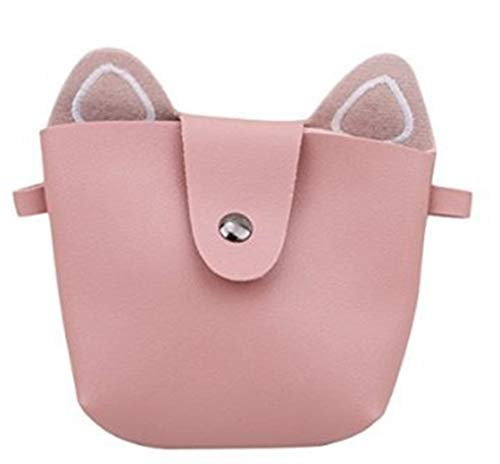 Tamaño color Bolsa Mini Messenger Lady Princesa Rosado Bag Lindo Rosado Niños Moda Cat qTwgzWPZ